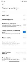 Camera app general UI and settings - Xiaomi Redmi Note 8 2021 review