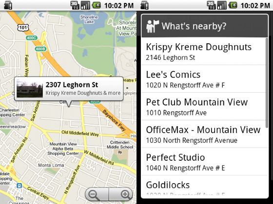 Google Whats nearby