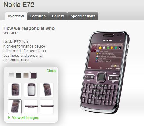 Nokia E72 Amethyst Purple