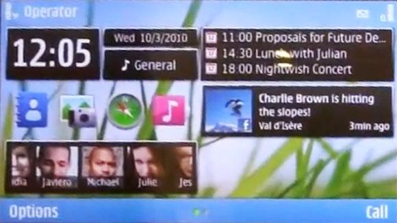 Symbian^3 live demo