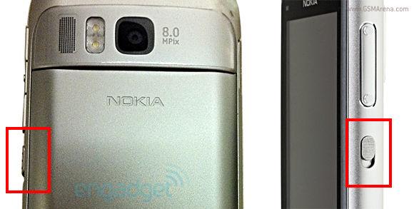 Nokia E6-00 Lock button?