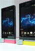 Price tags hung on Sony Xperia U and Xperia P