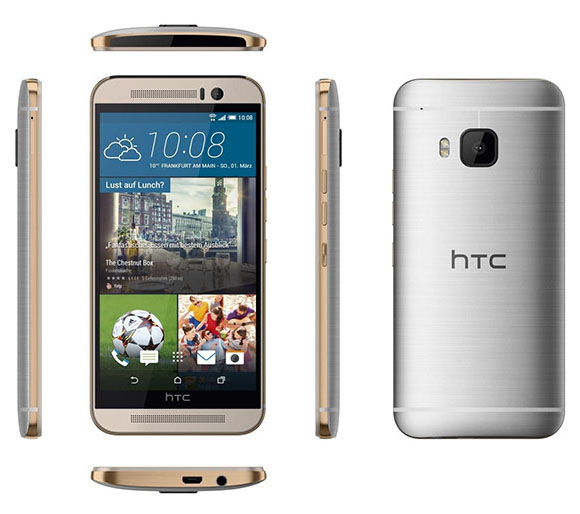 HTC One M9 multi-angle view