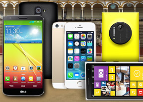 Apple iPhone 5s vs. LG G2 vs. Nokia Lumia 1020: War of the worlds