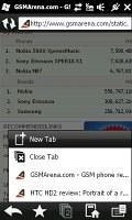 Opera Mobile 9.7 on HTC HD2