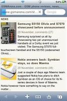Mobile Safari on iPhone 3GS