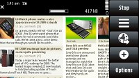 S60 Browser on Nokia 5800 XpressMusic