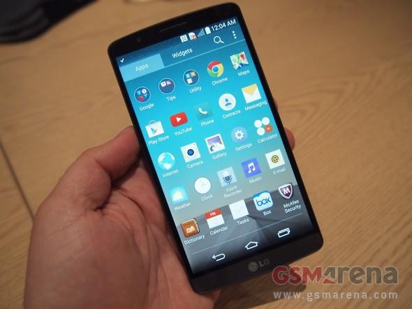 LG G3 hands-on: First look - GSMArena com tests