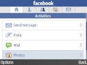 Nokia E72 Facebook app