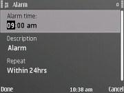 Nokia E72 screenshot
