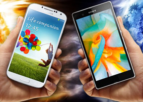 Samsung Galaxy S4 vs. Sony Xperia Z: When worlds collide