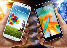 Samsung Galaxy S4 vs. Sony Xperia Z: When worlds collide